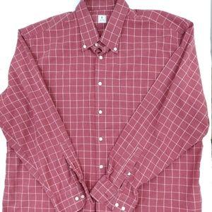 Peter Millar plaid cotton button down men's XL
